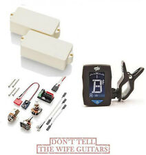 EMG PX IVORY ACTIVE FENDER P BASS REPLACEMENT UPGRADE PICKUP (FREE DUNLOP TUNER)