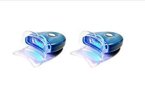 2 NEW LED Blue Plasma Hands-freeTeeth Whitening Accelerator Light w/ Batteries