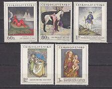 CZECHOSLOVAKIA 1968**MNH SC# 1589-1593  Painting - Czechoslovakian Art
