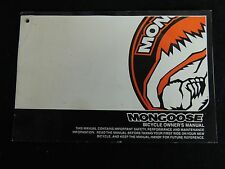 Original MONGOOSE 2007 BICYCLE OWNER'S MANUAL 112 pages in English or Espanol