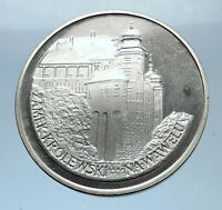 1977 POLAND w WAWEL CASTLE Krakow Antique Silver 100 Zlotych Polish Coin i72410