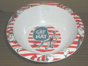 """Dr Seuss The Cat In the Hat 6 1/4""""  Bowl Kraft Macaroni & Cheese pre-owned good"""