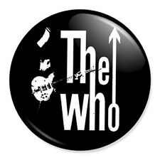 "The Who Logo 25mm 1"" Pin Badge Button Retro Punk Rock New Wave Band Mod"