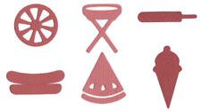 QuicKutz Lifestyle Crafts Mini Cutting Die Set BBQ SHAPES Summer  ~CC-SHAPE-10