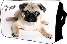 Cute Fawn Pug Bag College / Messenger / School / Laptop Bag Great Birthday Gift