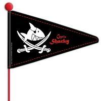 Wimpelstange Capt'n Sharky Pirat doppelwandig + teilbar für Kinder Fahrräder NEU