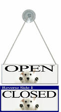 Open and Closed Sign Pet shop Dog Groomers Vets Puppy cute animal Door Sign