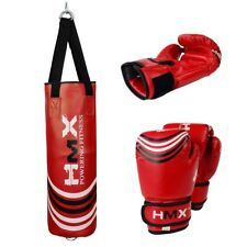 HMX UNFILLED KIDS PUNCHING BAG JUNIOR BOXING GLOVES SET MMA CHILDREN MUAY THAI