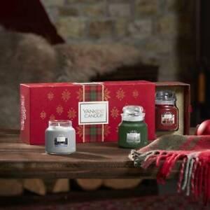 Yankee Candle Set 3 Candele Profumate Giara Piccola Confezione Regalo Natale