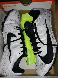 Men's White & Gray Nike Zoom Rival Track & Field Shoe S 9 size 6.5