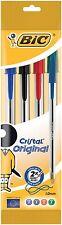 BIC Cristal Original 1.0 mm Ball Pen-multicolores, paquete de 4