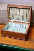 Antique Jewelry Box Carved Wood keepsake box trinkets vintage case old