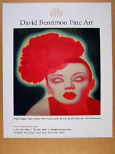 2008 Feng Zhengjie 'China Portrait' painting NYC gallery print Ad