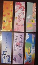 My Little Pony 6 bookmarks Twilight Rarity Pinkie Applejack Rainbow Fluttershy