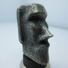 Moai (Easter Island) Lanyard Paracord/Leather Bead in Pewter by Marco Magallona