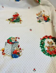 VINTAGE 'CHRISTMAS MICE' FABRIC BY VIP CRANSTON BTY Cotton New