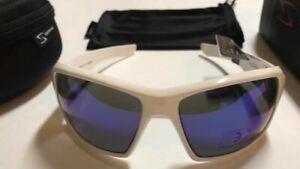 NEW Serfas Auger Cycling Sunglasses 100% UV White Frames Blue Multi Coat Lens