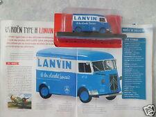 """CAMION-VOITURE FOURGON PUBLICITAIRE CITROËN TYPE H """"LANVIN"""" (1945) (1/43éme)."""