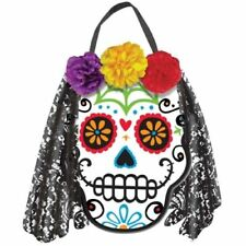 Halloween Party Day Of Dead Sugar Skull FLower Lace Mexican Hanging Decoration