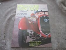 NOV 1963 MOTOR SPORT ILLUSTRATED vintage auto car magazine