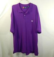 Ralph Lauren Chaps Mens Short Sleeve Polo Golf Shirt Purple Size 2XL XXL