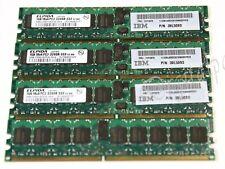 Ram IBM ELPIDA 4GB (4x 1GB) DIMM 1Rx4 PC2-3200R-333 Reg ECC