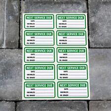 10 x Next Service Stickers Car Van Truck Garage Oil Change Reminder Green - 5418