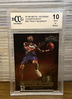1997 - 1998 Metal Universe Championship #36 Tracy McGrady Rookie Card BCCG 10 RC