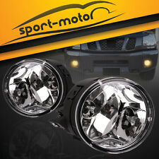 for 05-08 Nissan Armada / 04-10 Titan Clear Front Bumper Fog Lights Lamps+Bulbs