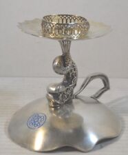 Antique Silver and Silverplate Chamberstick Candlestick