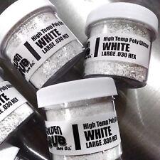 NEW 2 OZ. Jar WHITE Hi-Temp Glitter .030 Hex Fishing Lure Making plastisol