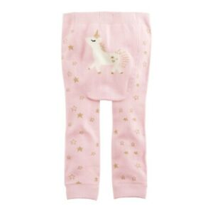 Mud Pie E0 Kids Baby Girl Dream In Glitter Unicorn Knitted Pants 15200048 Choose