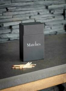 Garden Trading Steel Match Box Metal Holder - Large Match Box Holder - Mens Gift