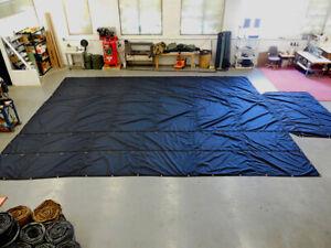 IN STOCK! - PAIR of 20 x 26, 6' Drop CORDURA Lumber Tarps, 2 Rows D-Rings, black