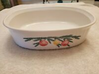 VINTAGE CORNING 1995 HOLIDAY CHRISTMAS BULB EMPLOYEE OVAL CASSEROLE F-2-B