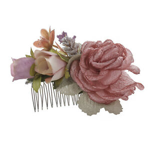 Boho Ladies Flower Hair Comb Pins Slide Bridal Wedding Hair Accessories Party