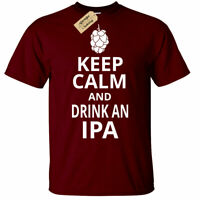 Keep Calm and Drink IPA T-Shirt Funny ale craft beer larger gift top alcohol