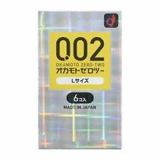 Condom Okamoto 0.02 size Large L 002 Ultrasensitive Japan Polyurethane Non Latex