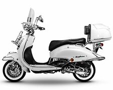 Retro Roller Mofa 25 45 KmH Motorroller 50 49 ccm Moped weiß EASYCRUISER NEU