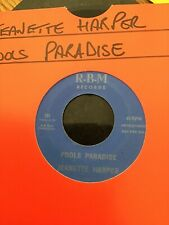 Northern Soul Records.Jeanette Harper.Fools Paradise.Double A Promo