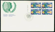 Canada Fdc 1985 International Youth Year Block United Nations First Day Cover Ww