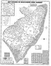 Southern New Jersey Laminated Zip Code Wall Map