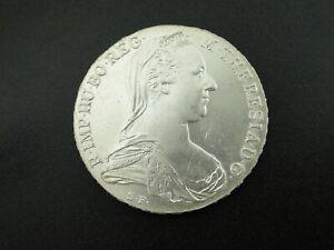 1780 AUSTRIA MARIA THERESA SILVER THALER RESTRIKE COIN