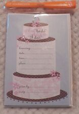 Hallmark Stationery Engagement Party Bridal Shower Invitations Pkg. of 10 Sealed