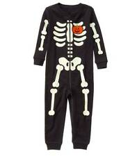 NWT GYMBOREE HALLOWEEN BLACK SKELETON ONE-PIECE COSTUME GYMMIES PAJAMA PJ 2T NEW