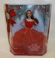 2018 Holiday Barbie Doll Latino Hispanic Red Dress MIB NRFB