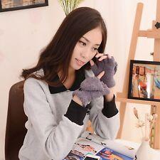 Cute Ladies Winter Knitted New Fashion Hot Women Hand Fingerless Wrist Gloves