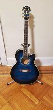 ibanez ael20-tbs-14-01 blue guitar acoustic