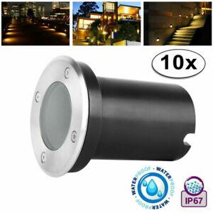 LED Set Bodeneinbauleuchte LED Bodenleuchte GU10 ohne Leuchtmittel Außenleuchte