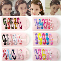 Lots 10Pcs Wholesale Bulk Girls Baby Kids Hair Clips Snap Slides Close Hairpin